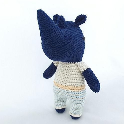Rhino Knitted doll