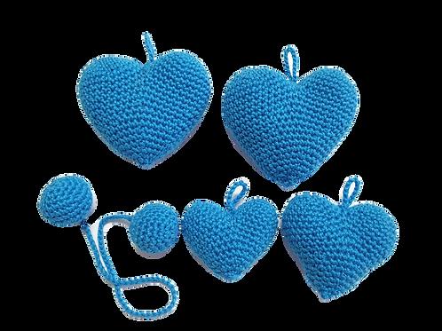 לב כחול קטן