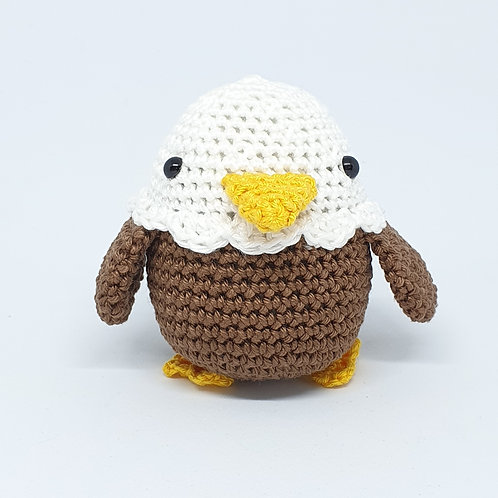 Eagle Chick Knitted Doll