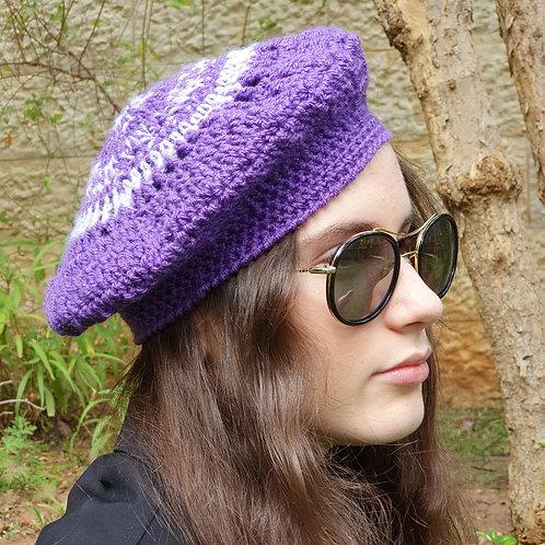 כובע ברט סגול לאשה ולנערה