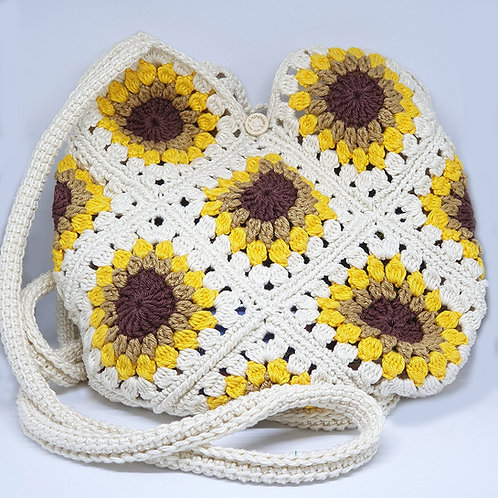 Knitted Bag Sunflowers