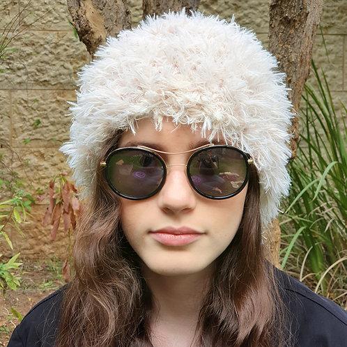 Cream Furry Hat