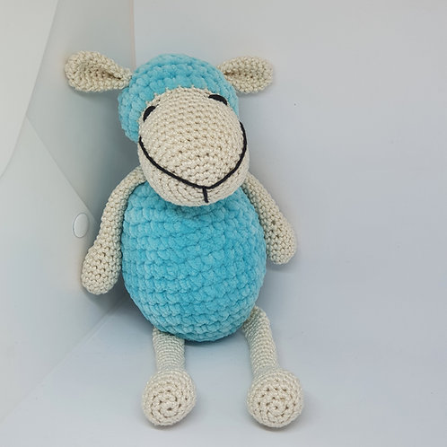 Sheep in Cream and Light Blue