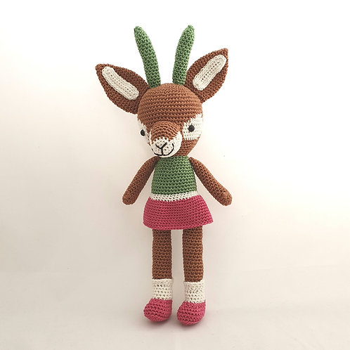 Doe knitted doll