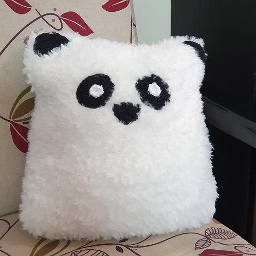 Furry Panda Pillow