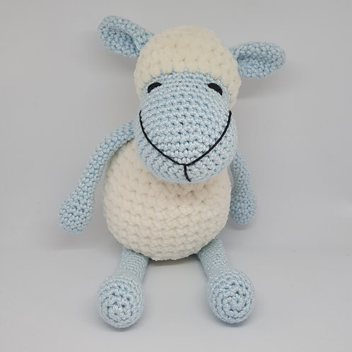 Sheep - Light blue and cream