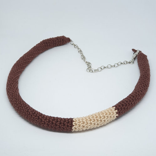Tube Necklace-Brown