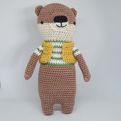 Otter knitted doll
