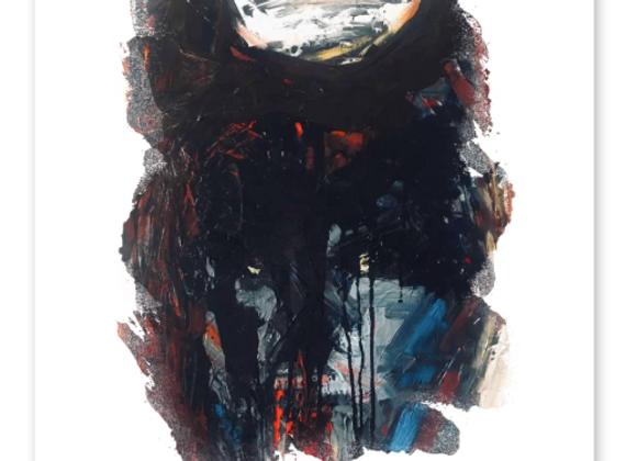 "Premium Cardstock Paper Print ""Monsters"", Abstract Art"