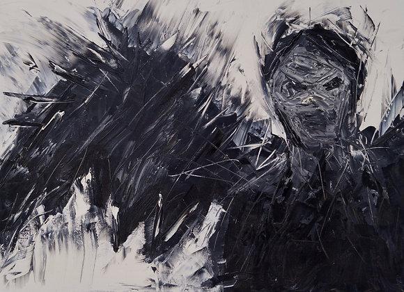 """Premium Giclée Paper Print """"I am not Afraid"""", Abstract Art"""