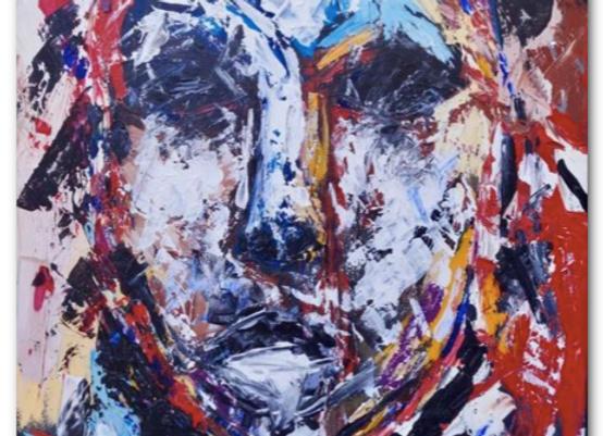 """Premium Giclée Paper Print """"Gaze"""", Abstract Art"""