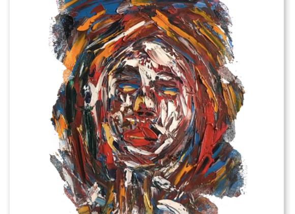 "Premium Cardstock Paper Print ""Rodopi Woman"", Abstract Art"