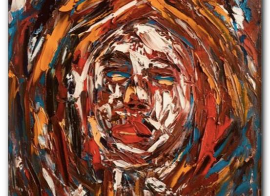 "Premium Giclée Paper Print ""Rodopi Woman"", Abstract Art"