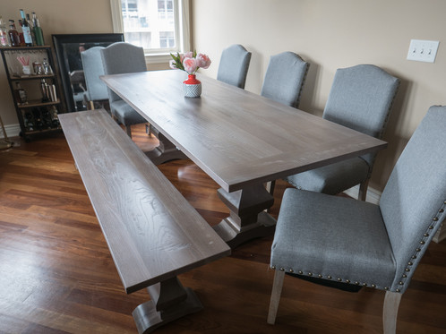 Walden Twin Pedestal Dining Table | TruCraft Handmade Custom Wood Furniture  Store Chicago
