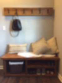 Reclaimed salvaged barn wood rustic bench