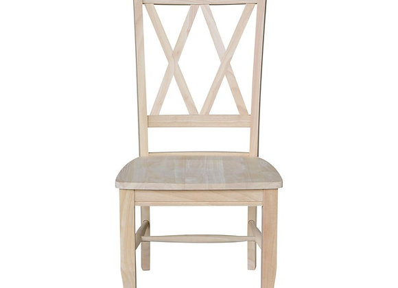 Double X-Back Dining Chairs