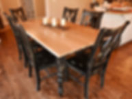 TruCraft Furniture Chicago Old English farmhouse dining table rustic