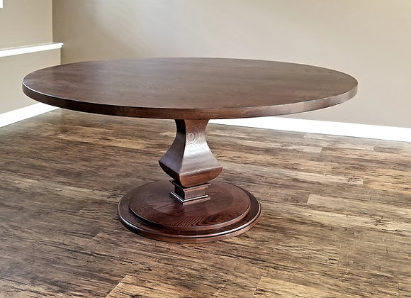Walden single pedestal round dining table