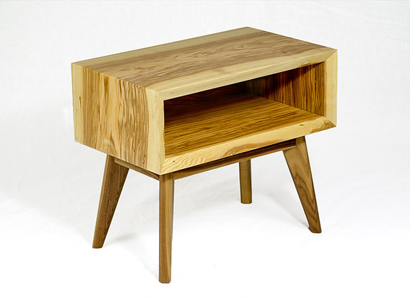 Mid century modern inspired solid ash and walnut End table
