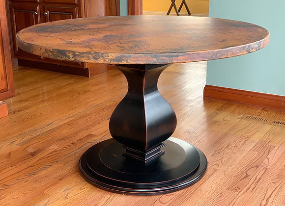Yorkshire single pedestal round dining table