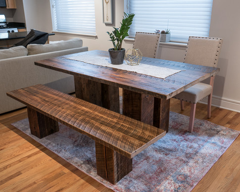 Rustic Pedestal Dining Table