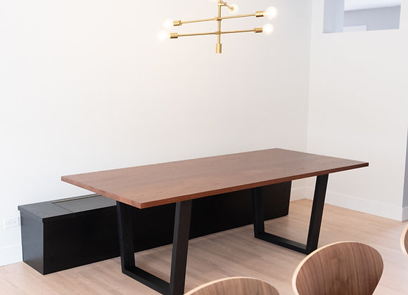 Modern Trapezoid Dining Table