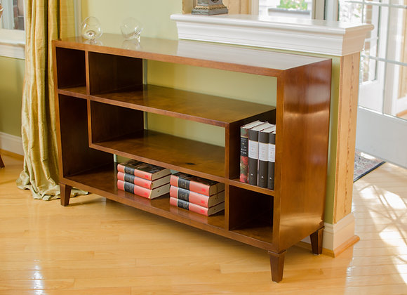 Modern solid hardwood bookcase