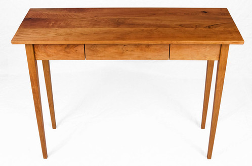 Hall Side Table solid cherry hall table with tapered legs and floating drawer