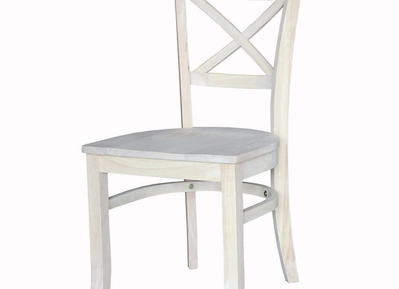 Short X-Back Dining Chair
