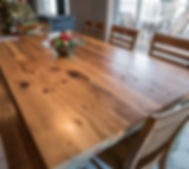 TruCraft Furniture Chicago old english farmhouse dining table harvest table
