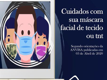 Fique atento aos cuidados com sua máscara facial
