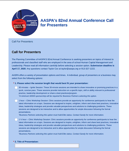 Screen Shot of Call for Presenters.PNG