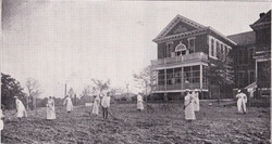 Nurses tending the Hospital garden