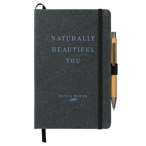Cahier de notes en cuir recyclé