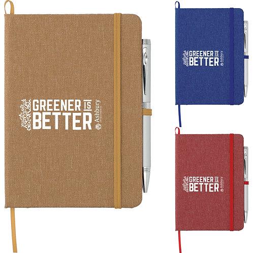 Cahier de notes en coton recyclé