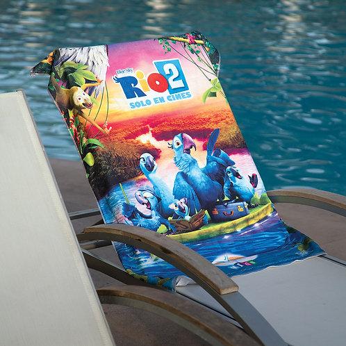 Petite serviette de plage sublimée