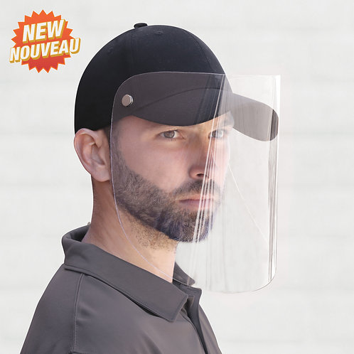 Casquette avec masque de protection