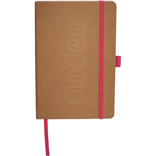 Cahier de notes écologique avec accent de couleur