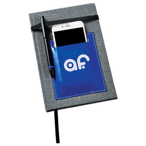 Cahier de notes avec pochette à téléphone/cartes d'affaires