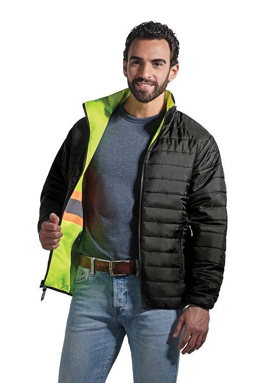 Manteau haute-visibilité réversible