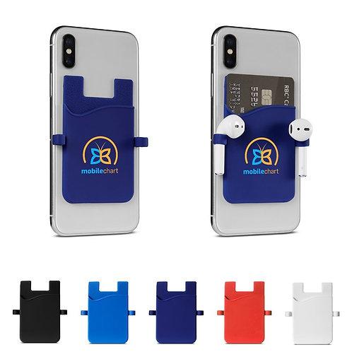 Porte-cartes/porte-écouteurs