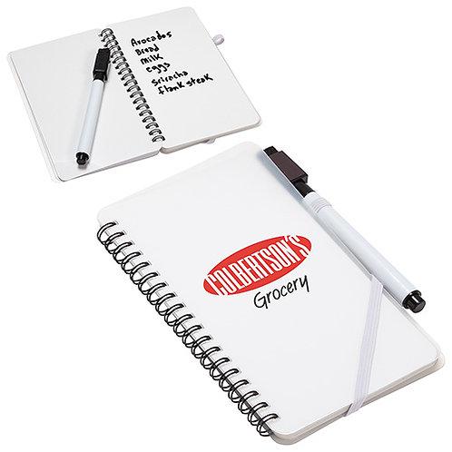 Cahier de notes avec pages effaçables