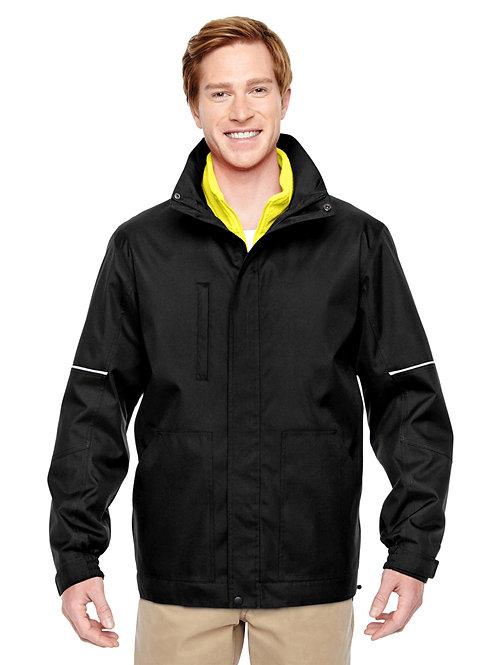 Manteau 3 en 1 avec veste en molleton haute visibilité