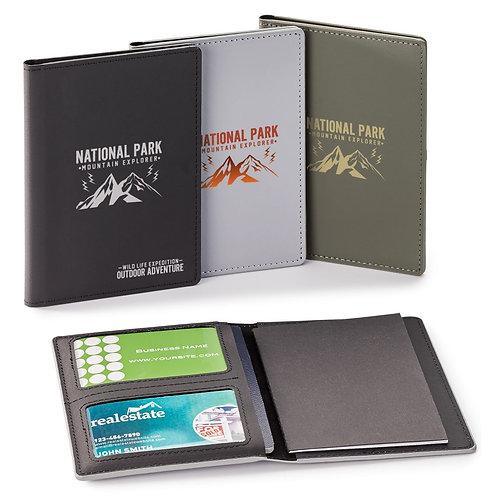 Porte-passeport avec RFID et carnet mémo