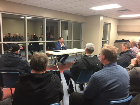KYLE SEEBACK HOSTS FIRST TOWN HALL MEETING