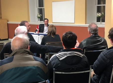 KYLE SEEBACK, M.P. HOSTS SECOND TOWN HALL MEETING