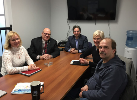 KYLE SEEBACK, M.P. MEETS WITH MEMBERS OF CALEDON COUNCIL