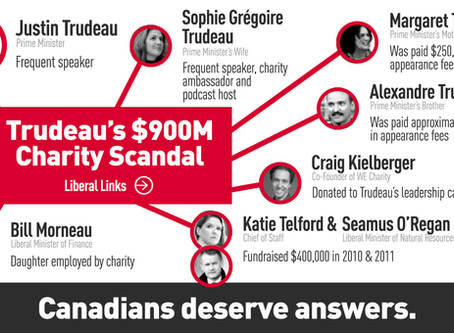 Holding the Trudeau Government Accountable for the WE Charity Scandal
