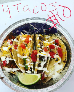 Today's special 4 hard shell tacos Chx,b
