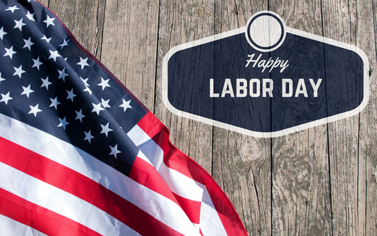 Happy Labor Day. USA flag. American holi